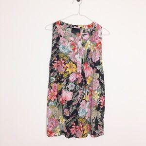 Cynthia Rowley Tops - Cynthia Rowley Floral Sleeveless Blouse - XL